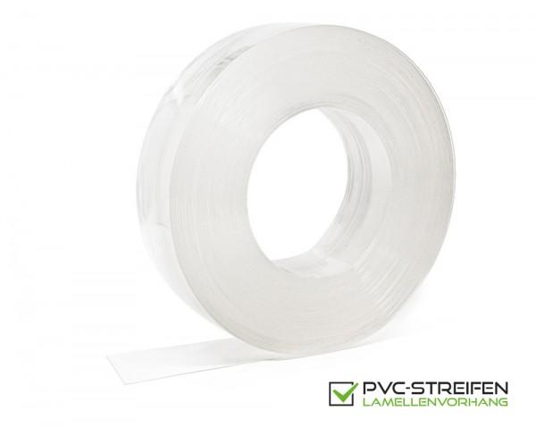 PVC Streifen 100 x 2 mm glasklar standard normal kältefest hell-transparent als Zuschnitt