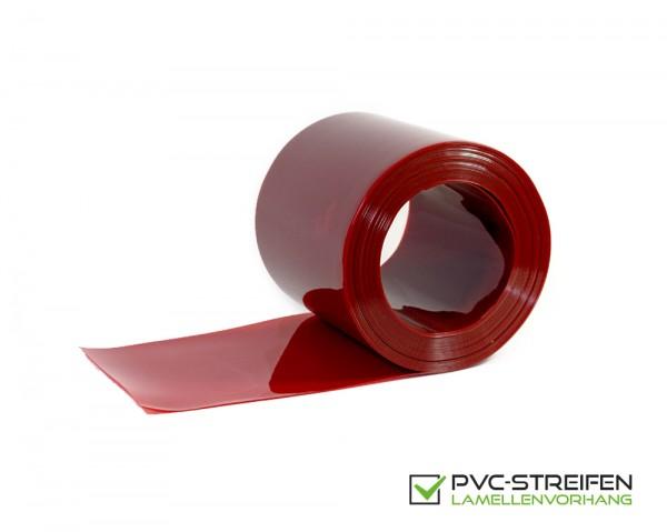 PVC Schweißerschutz Lamellen als Zuschnitt 300 x 2 mm rot-orange transparent DIN 1598