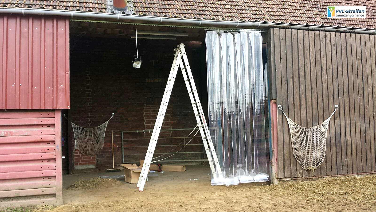 pvc stallvorhang streifenvorhang lamellenvorhang flattervorhang kaelteschutz
