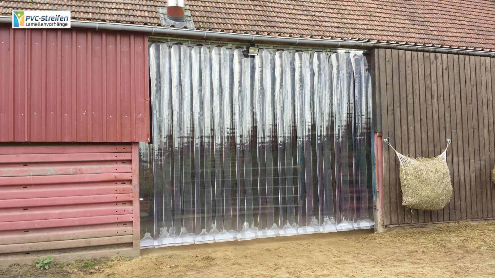 Versandabteilung PVC Streifen und Lamellenvorhaenge