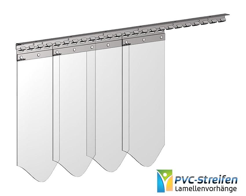 Breite PVC Lamellen 200 x 2mm Streifen Vorhang Pferdestall Stallvorhang 4,00m